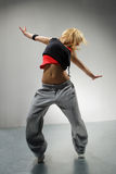 The dancer. Young stylish woman dancing modern balet dance royalty free stock photography