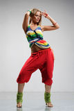 Dancer. Cool looking and stylishly dressed dancer posing Royalty Free Stock Images