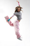 The dancer. Cool looking dancer posing on a white background stock photography