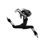 Dancer. Cool dancer jumping on white royalty free stock image