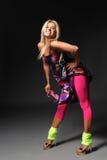 The dancer. Modern style dancer posing on studio background stock photo