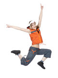 Dancer. Young female dancer posing isolated on white Stock Photos