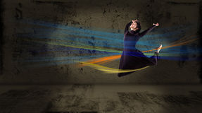 Dancer,  on an abstract background. collage Stock Images
