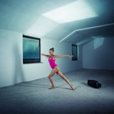 Dancer in the attic Stock Photography