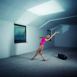 Dancer in the attic Royalty Free Stock Images