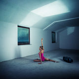 Dancer in the attic Royalty Free Stock Image