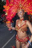 Dancer from the Bachanalia float Stock Photography