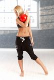 Dancer with ball Royalty Free Stock Images