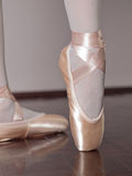 Dancer in ballet pointe shoes Stock Images