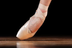 Dancer in ballet shoes Royalty Free Stock Photo