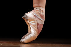 Dancer in ballet shoes Royalty Free Stock Images