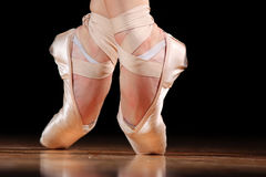 Dancer in ballet shoes Royalty Free Stock Photography