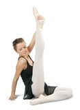 Dancer in ballet shoes exercising Royalty Free Stock Photography