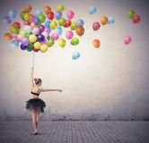 Dancer with balloons Royalty Free Stock Images