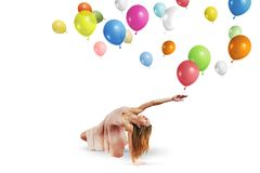 Dancer with balloons Royalty Free Stock Image