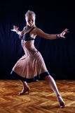 Dancer in ballroom Royalty Free Stock Image