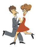 Dancer ballroom dancing Royalty Free Stock Photos