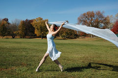 Dancer on a beautiful sunny day Royalty Free Stock Photo