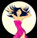 Dancer beautiful woman. Vector illustration of dancer beautiful woman Stock Illustration