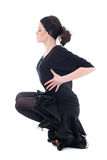 Dancer in black showing pose Stock Photo