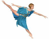 Dancer in Blue - Arabesque Royalty Free Stock Images