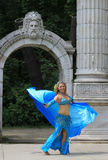 The Dancer in Blue Costume Stock Photo