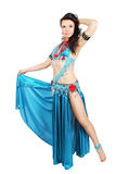 Dancer in a blue suit Royalty Free Stock Images