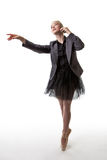 Dancer business woman with phone Royalty Free Stock Photos