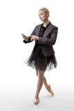 Dancer business woman with phone Stock Photo