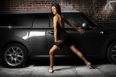 Dancer and Car Royalty Free Stock Image