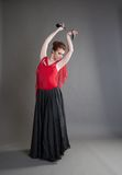 Dancer with castanets Stock Photo