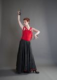 Dancer with castanets Stock Image