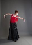 Dancer with castanets Royalty Free Stock Images