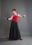 Dancer with castanets Stock Photography