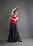 Dancer with castanets Royalty Free Stock Image