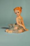 Dancer of ceramics. / Celeste Background Stock Images
