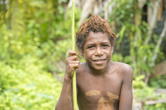 Boy of mud people, Solomon Islands Stock Photos