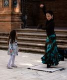 The dancer and the child royalty free stock photos