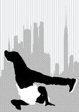 Dancer on city Stock Images