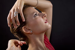 Dancer Close Ups Royalty Free Stock Photography