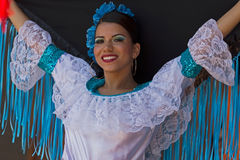 Dancer from Colombia in traditional costume Stock Images