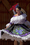 Dancer from Colombia in traditional costume Royalty Free Stock Photos