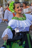 Dancer from Colombia in traditional costume Stock Photography