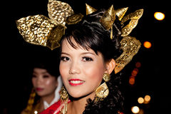 Dancer in colorful costume. Royalty Free Stock Photos