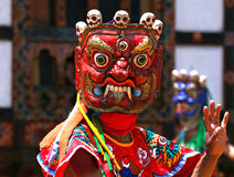 A dancer with colorful mask Royalty Free Stock Photo