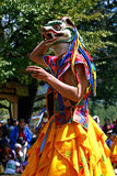A dancer with colorful mask Stock Photo