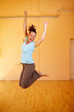 Dancer cutting a caper royalty free stock image