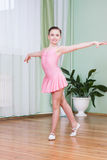 Dancer in a dance class. Young dancer in a dance class royalty free stock photography