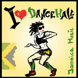 Dancer dancehall style, hand drawing Stock Photos