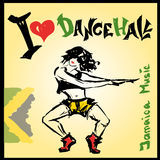 Dancer dancehall style, hand drawing Royalty Free Stock Photo